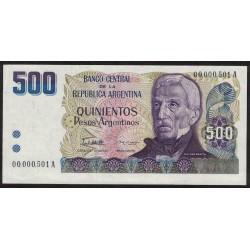 B2626 500 Pesos A 1984 Numeracion Baja UNC