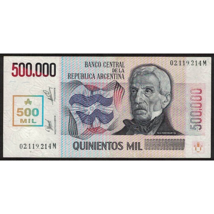 B2897 500.000 Australes Transitorio M 1990 MB/EXC