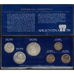 Blister de 6 Monedas 1978 Mundial Fifa Cuño 1978 UNC