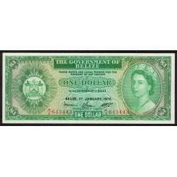 Belize P33c 1 Dollar 1976 UNC