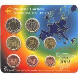 España Blister Primera Emision Euro 2002 UNC
