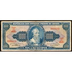 Brasil P173c 1000 Cruzeiros 1961/63 MB