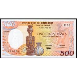Camerun P24a 500 Francos 1988 UNC