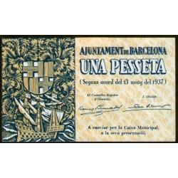 España 1 Pesseta 1937 Ayuntamiento de Barcelona UNC