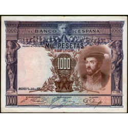 España P70c 1000 Pesetas 1925 MB/EXC