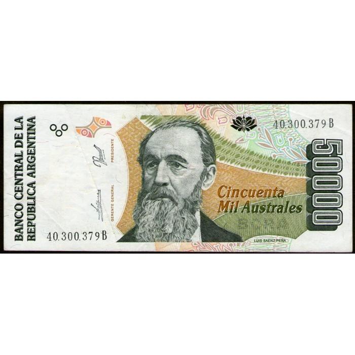 B2888 50.000 Australes B 1990 MB/EXC