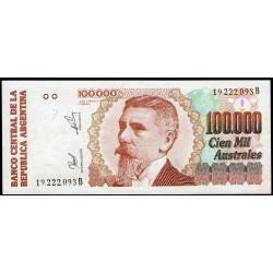 B2892 100.000 Australes B 1991 EXC