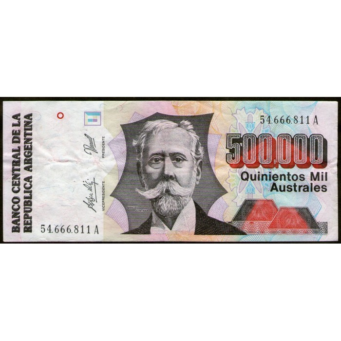 B2900 500.000 Australes A 1991 MB+