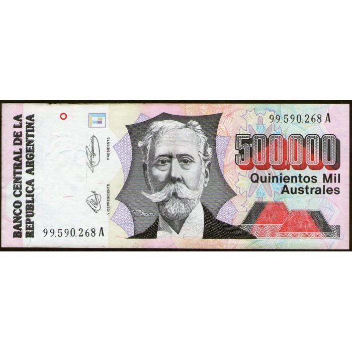 B2902 500.000 Australes A 1991 MB/EXC