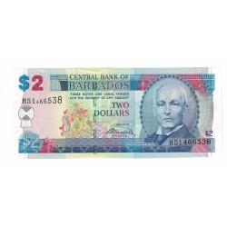 P66A 2 Dolares 2007 Barbados UNC