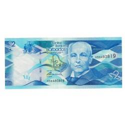 P73 2 Dolares 2013 Barbados UNC