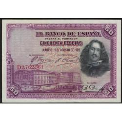 España P75 50 Pesetas 1928 EXC
