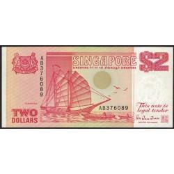 Singapur P27 2 Dolares 1990 UNC