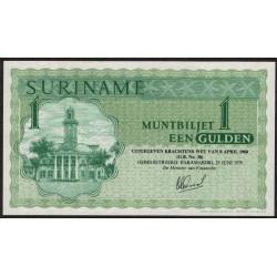Suriname P116e 1 Gulden 1979 UNC