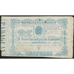 Paraguay Billete 2 Pesos 1865 P22 MB
