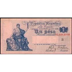 B1547 1 Peso Caja de Conversion B 1920 EXC-
