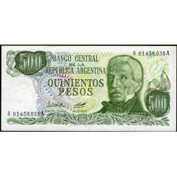 B2431a REPOSICION 500 Pesos 1979/81 F1 UNC