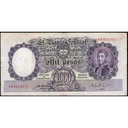 B2132 1000 Pesos Ley 12155 A 1951 Numeracion en Rojo MB