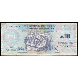 C015 Bono Jujuy 10 Australes MB-