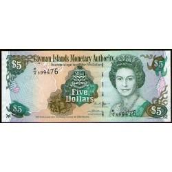 Islas Cayman P34b 5 Dolares 2005 UNC