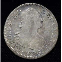 Potosi 2 Reales 1796 PP CJ78.8 Carlos IIII MB