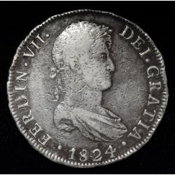 Potosi 8 Reales 1824 PJ CJ86.14.1 Fernando VII MB