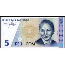 Kirguistan P8a 5 Som 1994 UNC