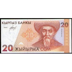 Kirguistan P10a 20 Som 1994 UNC