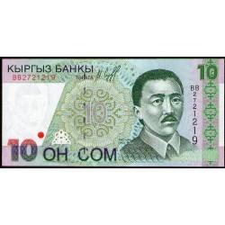 Kirguistan P14a 10 Som 1997 UNC
