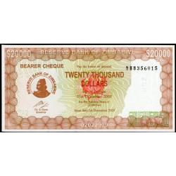 Zimbabwe P23e 20.000 Dolares 2003 UNC