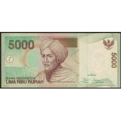 Indonesia P142b 5000 Rupias 2001/02 UNC