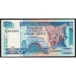 Sri Lanka P104b 50 Rupias 1992 UNC
