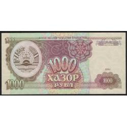 Tayikistan P9a 1000 Rublos 1994 UNC