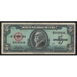 P92a 5 Pesos 1960 Cuba