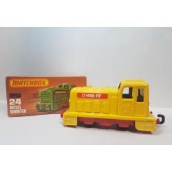 Matchbox 1977 N°24 Diesel Shunter Amarilla