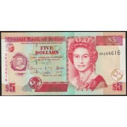 Belize P67 5 Dolares 2009 UNC
