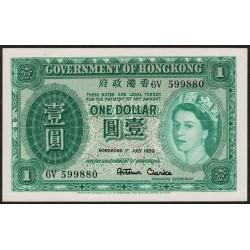 Hong Kong P324Ab 1 Dolar 1959 UNC
