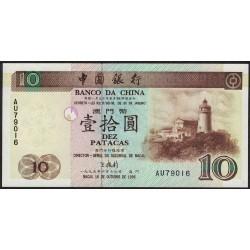 Macao 10 Patacas 1995 P90 UNC