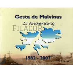 Blister BCRA 25 Aniversario gesta de Malvinas Moneda canto liso UNC