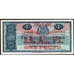 Escocia P166c 1 Pound 1963 EXC