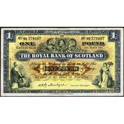 Escocia P324b 1 Pound 1964 MB+