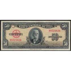 P81a 50 Pesos 1950 Cuba