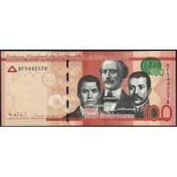 Republica Dominicana P190a 100 Pesos UNC
