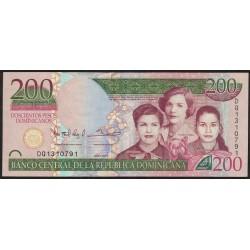 Republica Dominicana P185 200 Pesos 2013 MB/EXC