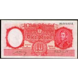 B1938 10 Pesos Ley 12155 A 1949 EXC-