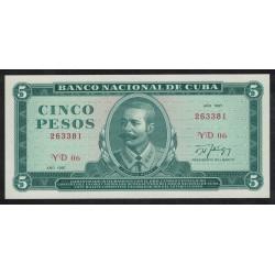 P103c 5 Pesos 1987 Cuba