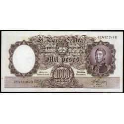 B2147a 1000 Pesos Leyes 12.962 y 13.571 B 1960 Filigrana C EXC