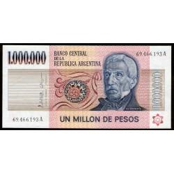 B2514 1.000.000 Pesos A 1982 EXC