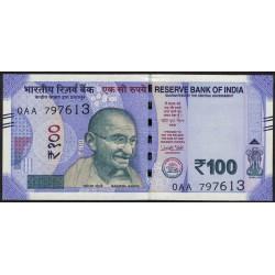 India 100 Rupias 2018 UNC