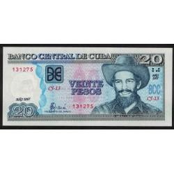 P122d 20 Pesos 2007 Cuba UNC